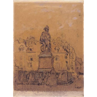 Sketch for `The Statue of Duquesne, Dieppe'