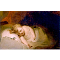 Child Asleep (also known as The Rosebud)