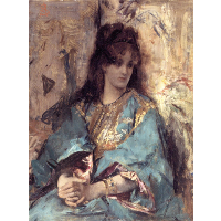 A Woman Seated in Oriental Dress