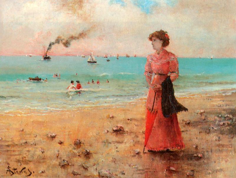 Русская дама на море