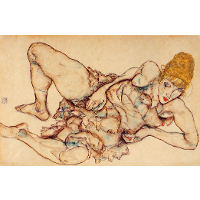 Reclining Woman with Blond Hair