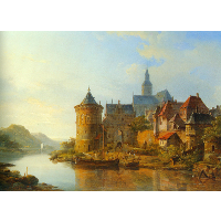 A View of a Town along the Rhine