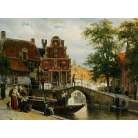 A View of Franeker with the Zakkendragershuisje
