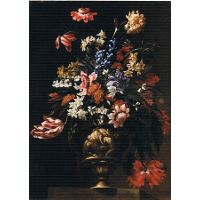 Still life with a vase of flowers